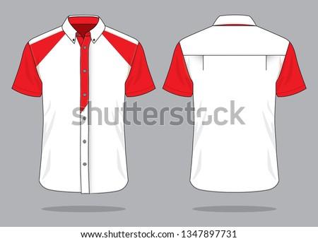 Uniforms Shirt Design (White / Red)