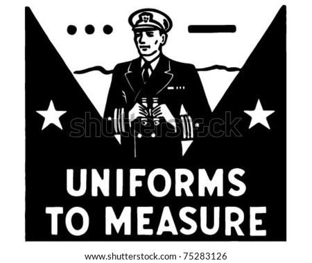 Uniforms To Measure - Retro Ad Art Banner