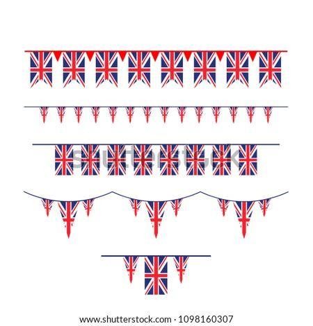 Union Jack flag bunting #1098160307