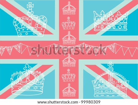 Union jack vector pattern