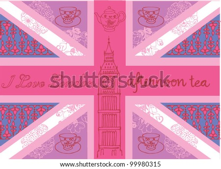 Union jack vector pattern