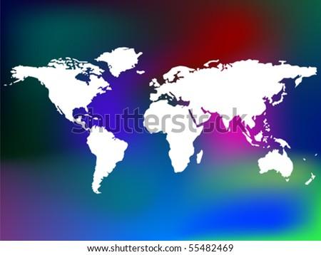 world map vector art. and world map, vector art
