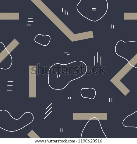 Unique abstract seamless repeating pattern. Geometric and hand drawn elements. Modern style. Perfect for textile, wrapping, print, web and all kinds of decorative projects. Vector illustration.