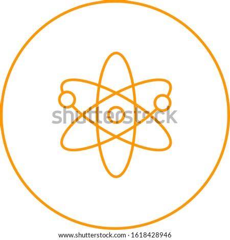 Unique Atomic Structure II Vector Line Icon