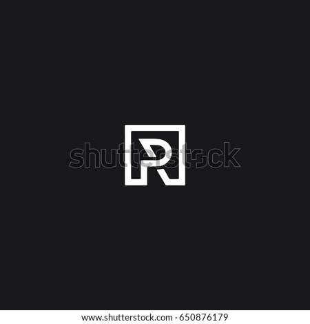 Unique attractive creative modern connected technological PR RP P R initial based letter icon logo.