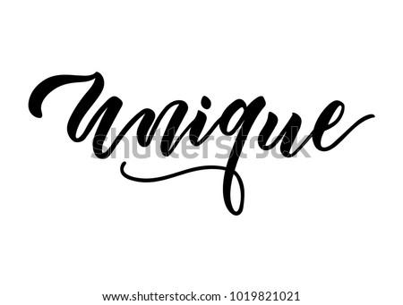 unique brush lettering design