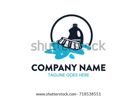 Unique Cleaning Service Logo Template