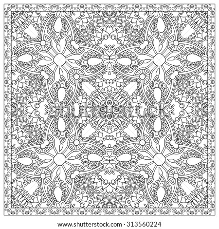unique coloring book square