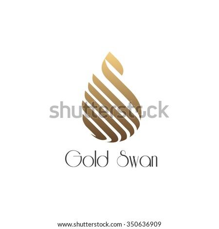 unique concept golden swan