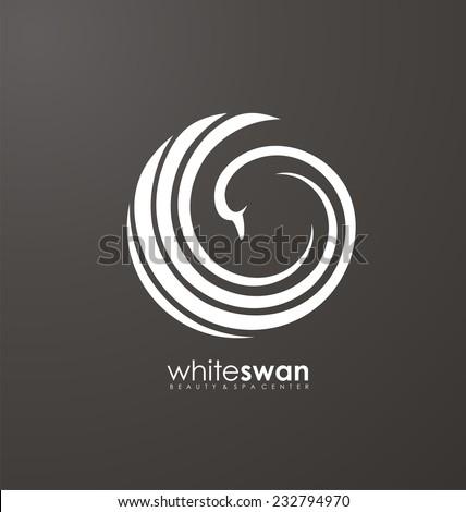 unique concept swan bird