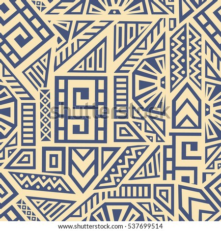 Shutterstock Unique Geometric Vector Seamless Pattern made in ethnic style. Aztec textile print. Perfect for site backgrounds, wrapping paper and fabric design.