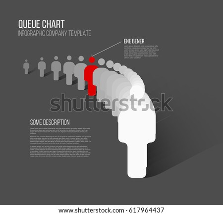 Unique individuality concept vector illustration - one figure in the queue is different from others