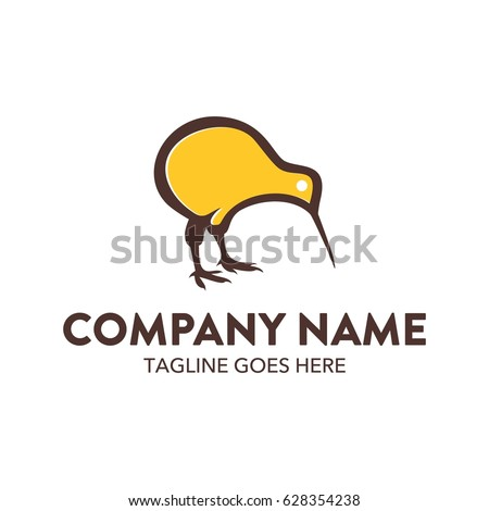 unique kiwi bird logo template