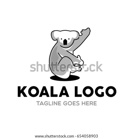 Unique Koala Logo Mascot Character Template | EZ Canvas