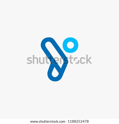 unique letter Y logo concept, modern people logo concept, icon alphabet vector