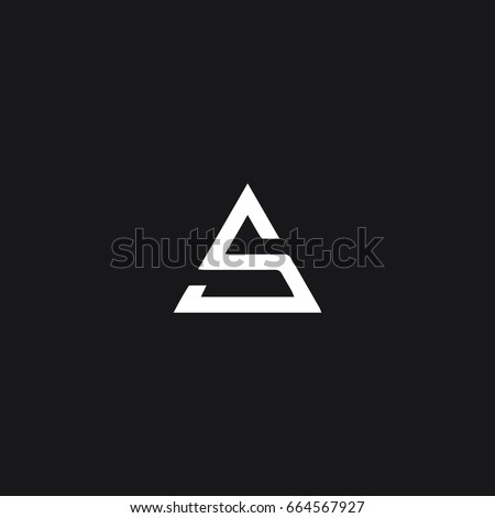 Unique modern creative trendy business brands black and white color SA AS S A initial based letter icon logo.