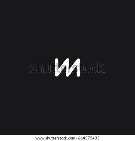 Unique modern stylish unusual connected sports brands black and white color V M initial based letter icon logo.