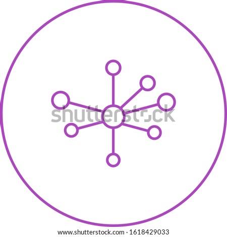 Unique Molecular Structure Vector Line Icon