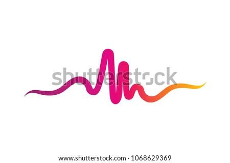 unique pulse or wave logo design