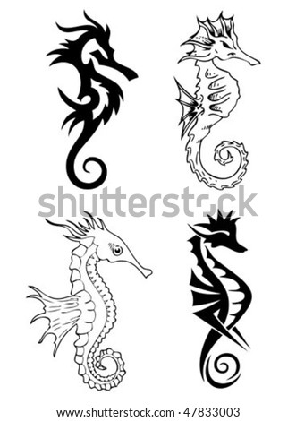 sea horse tattoo. seahorse. symbol. tattoo.