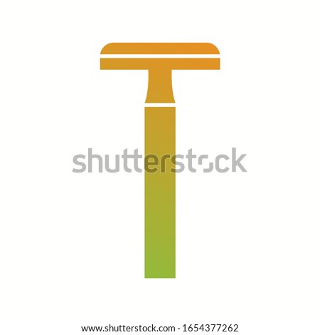 unique shaving blade vector