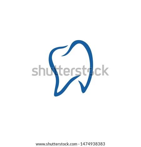 unique unique dental logo in blue
