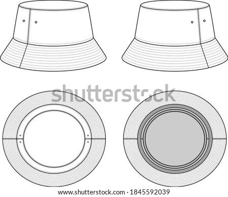 Unisex Bucket Hat - All Views Сток-фото ©