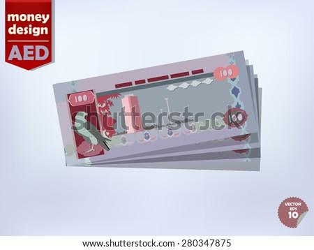 United Arab Emirates dirham money paper vector design, United Arab Emirates money concept