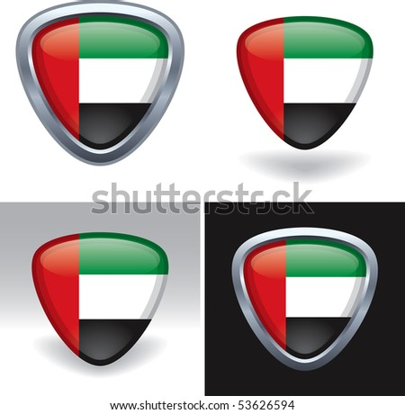 United Arab Emirates Flag Crest - stock vector