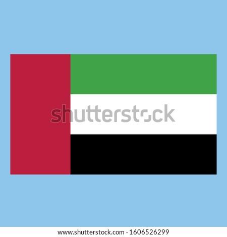 United Arab Emirates Flag illustration, textured background, Symbols of United Arab Emirates - Vector