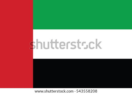 United Arab Emirates Flag. Vector Format ストックフォト ©