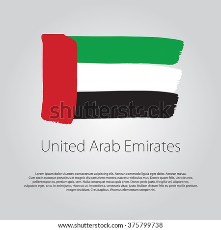 united arab emirates flag with