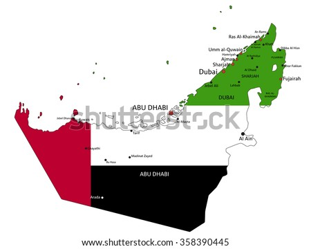 United Arab Emirates Map - Download Free Vector Art, Stock Graphics ...