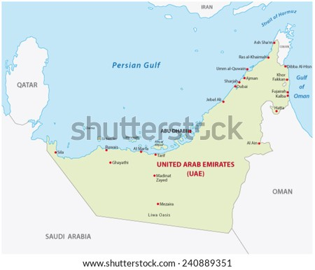 United Arab Emirates Map Download Free Vector Art Stock - United arab emirates map