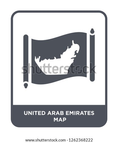 united arab emirates map icon vector on white background, united arab emirates map trendy filled icons from Countrymaps collection, united arab emirates map simple element illustration