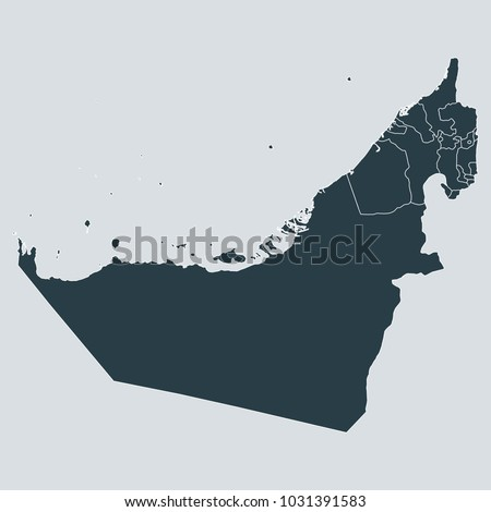 united arab emirates map on