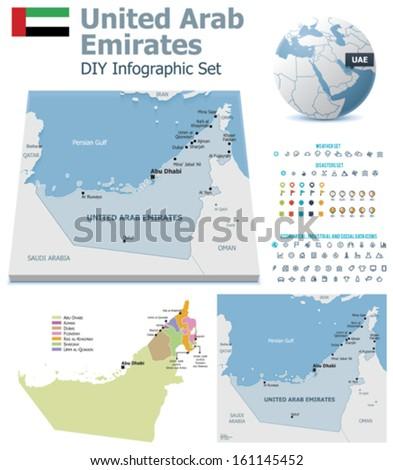 united arab emirates maps with