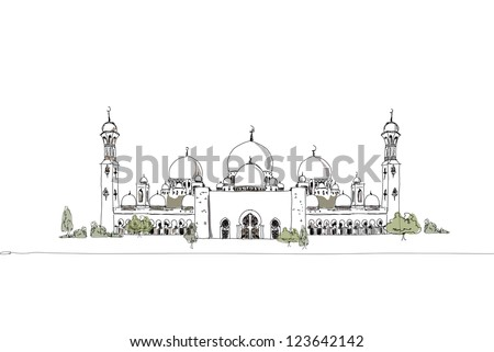 United Arab Emirates mosque background
