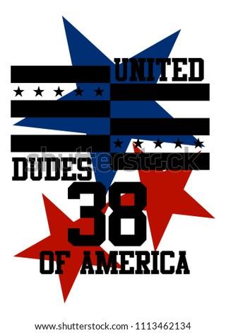 united dudes of america,t-shirt design