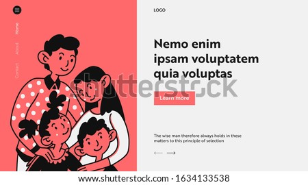 united family couple with two