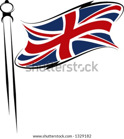 united kingdom flag - stock vector