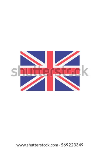 United kingdom flag icon, Vector