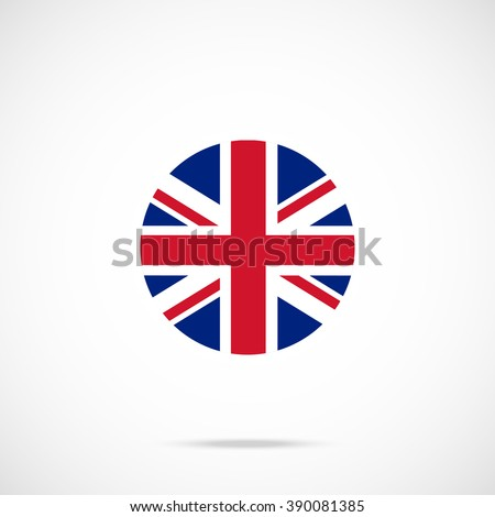united kingdom flag round icon. ...