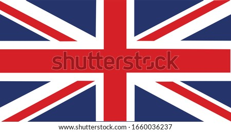 United Kingdom Flag Vector - Official United Kingdom Flag With Original Color and Size Proportion