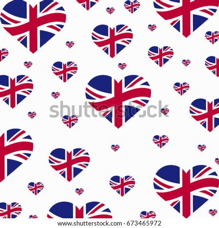 united kingdom heart flags