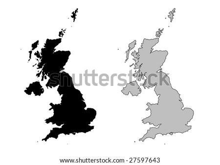 Vector British Isles Uk Map Download Free Vector Art Stock - United kingdom map vector