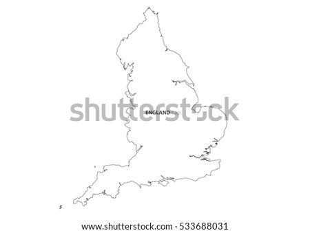 United Kingdom map outline vector or England