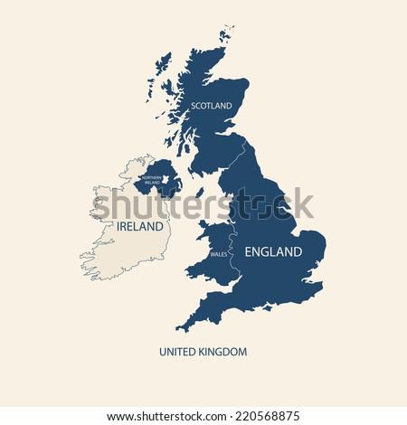 united kingdom map  uk map
