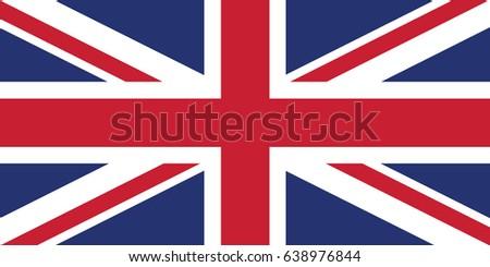 United Kingdom National Flag. Vector.