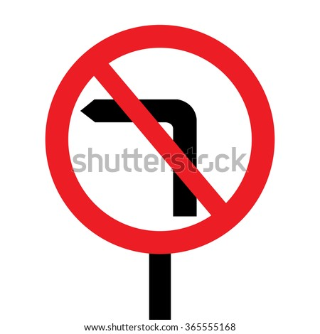 United Kingdom No Left Turn Sign